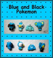 Blue and Black Pokemon
