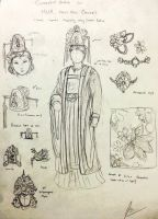 Conceptual Sketch - Court Dress (F) Hua Empire by Gambargin