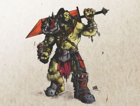 Another orc (color) by AskraOne