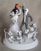 Day Of The Dead Skeleton Dogs By Claylindo On Deviantart