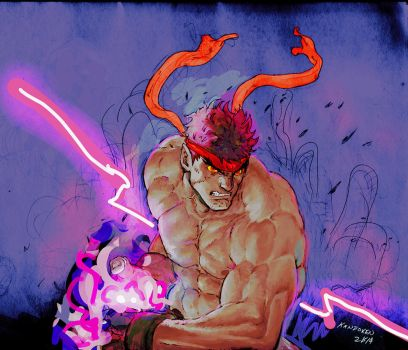 I'M GONNA BE AT PHILLY WIZARD CON! EVIL RYU by Kandoken