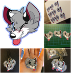 NeonWishes7 Charm Commission (Vector, Laminated) by TaiintySoup