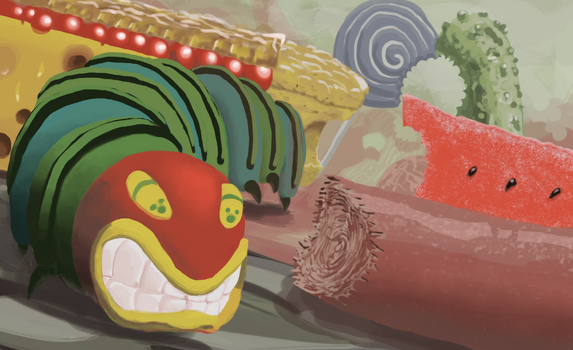 Very Hungry Caterpillar Illustration by eclipse561