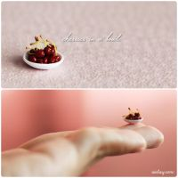 Cherries in a Bowl. by Aiclay