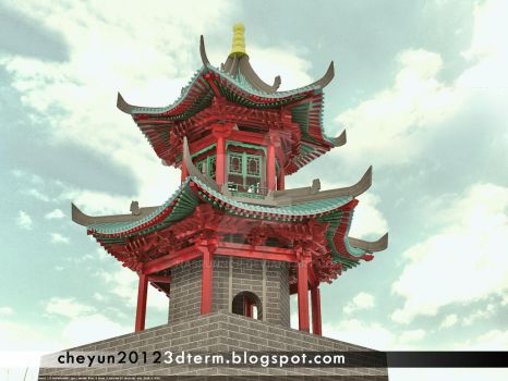 china mosques minaret by nasrunnor