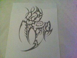 another custom tribal design by gbftattoos
