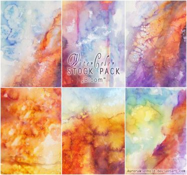 Watercolor - Stock Pack 2 - Bloom by AuroraWienhold