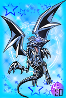 Blue-Eyes White Dragon ACEO by AESD