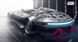 Millennium Falcon Car by roobi