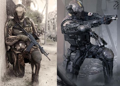 Infantry drones. by duster132