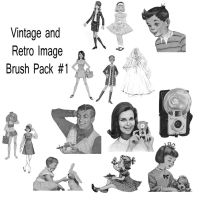 Retro and Vintage Brush Pack 1 by JonathanHasenfus