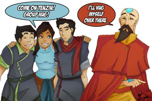 Group Hugs with the avatar by Ceshira