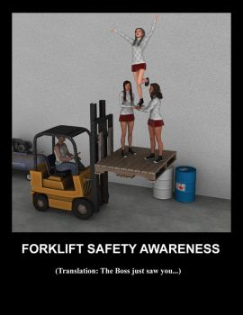 Forklift Safety Awareness by stopsigndrawer81
