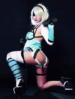 2B NieR: Automata DLC Ver. Cosplay by RinnieRiot