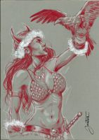 red sonja A4 by jonatasartes