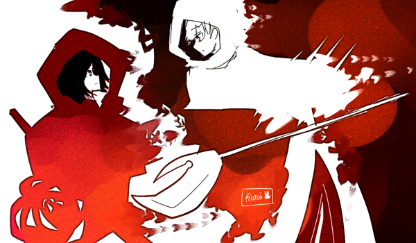 little red and the white wolf .:OC:. by kyashee