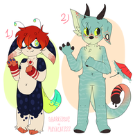 [adopt collab] hybridies by sharkissus