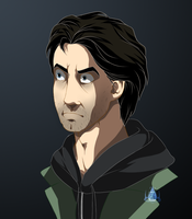 Disney style - Alan Wake by InvisibleRainArt