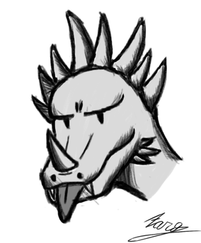 Anguirus(I think) that go blep by JustZaro