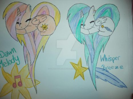 Dawn Melody and Whisper Breeze by SupernaturalAbyss