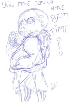 Undertale - Sans (Sketch) by meitantei-conan-62