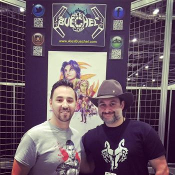 Dave Filoni and I at SWCE 2016 by AlexBuechel