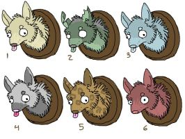 Wolf Head Adopts Batch 1 by CanisAdoptables