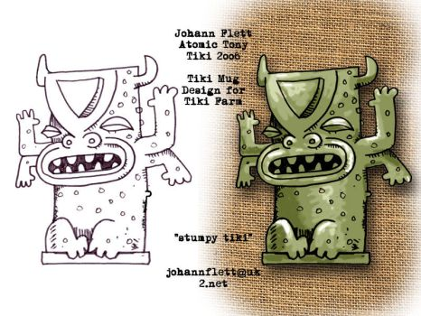 Tiki Mug Design Stumpy tiki by atomictonytiki