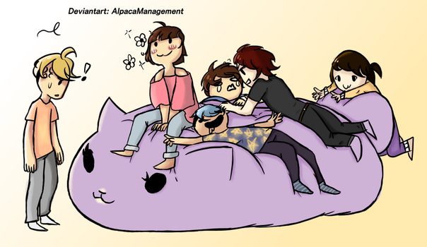 Babs On A Beanbag! (Draw the squad meme) by AlpacaManagement