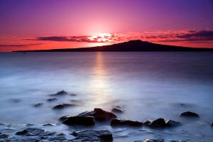 Rangitoto Dawn by chrisgin
