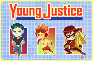 Young Justice Keychains by gladyfaith