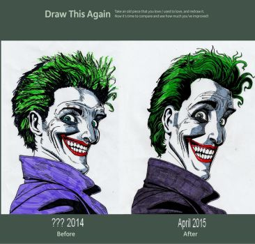 Draw this again #7 Joker by meralc