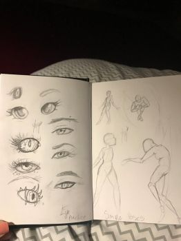 (Page 7-8) Anime eye practice and poses by BornWilde