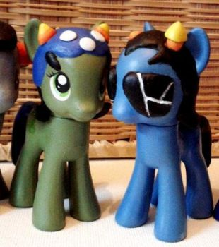 Equius and Nepita custom ponies by zingy180
