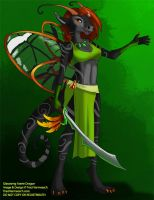 [Auction] Glasswing Faerie Dragon by Ulario