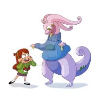Mabel And Goodra by Clairictures