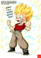 Krilin a Super Sayan?!! by Witchking00