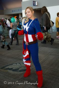 Knitted Captain America Cosplay - Marvel Comics by FangirlPhysics