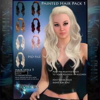 Instant Hair PSD Stock - Nica | hi res 300dpi by MakeMeMagical