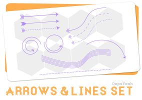 Arrows and Lines Brush Set by OopsYeah