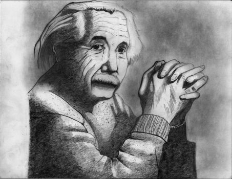 Albert Einstein - Retrato by Demonolito