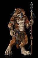 Tribal wolf-collab commission- by RogueLiger
