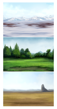 Commission - Places To Be by Mikaley