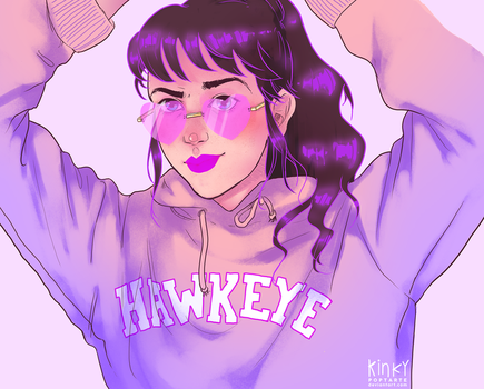 miss hawkeye by kinkypoptarte