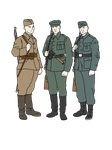 (WIP) Sketches of European WWII Soldiers by otakumilitia