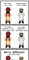 Sikhs and Muslims by Nahmala