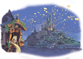 Tangled: Laterns Colour! by TomBromley