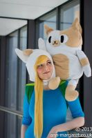 Fionna and Cake by LittleRecordGirl