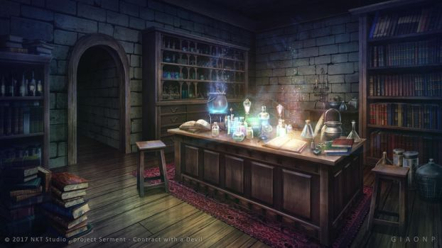 Magical lab - Visual novel Background by giaonp