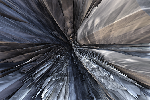 A journey through the passage of glass by Jakeukalane
